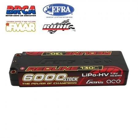 Gens ace Redline Series 6000mAh 7.6V 130C 2S2P...